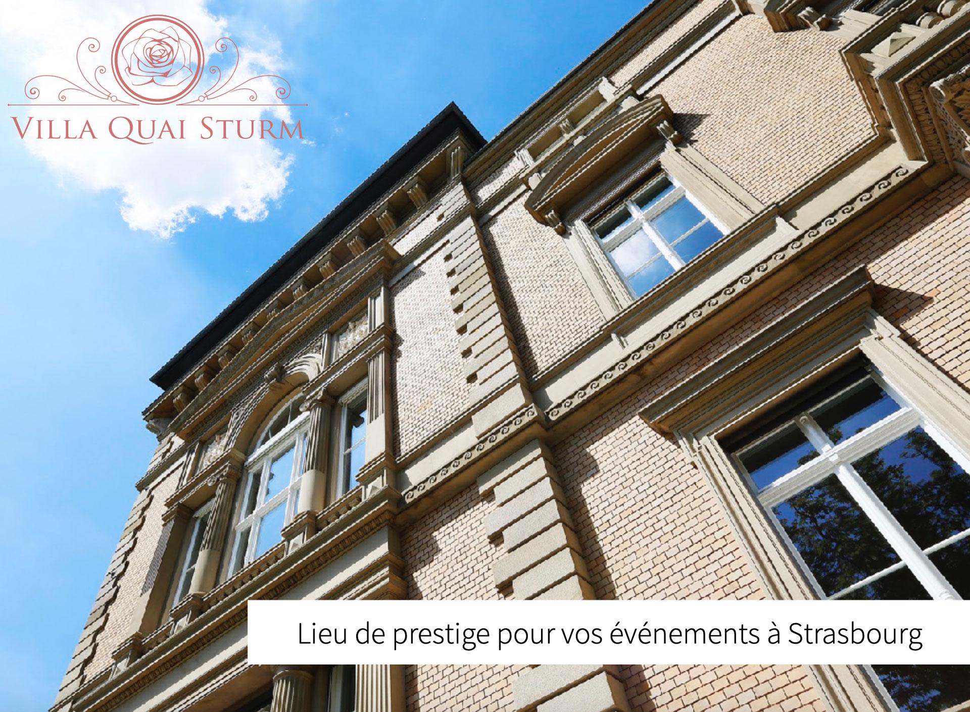 Villa Quai Sturm Strasbourg évènements